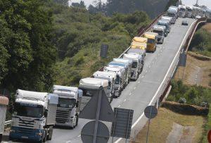 Protestas de los transportistas del carbón
