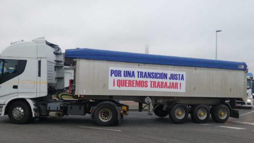 Los transportistas gallegos del carbón trasladan sus quejas a Madrid