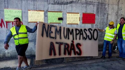 Aumenta la tensión por la huelga de transporte en Portugal