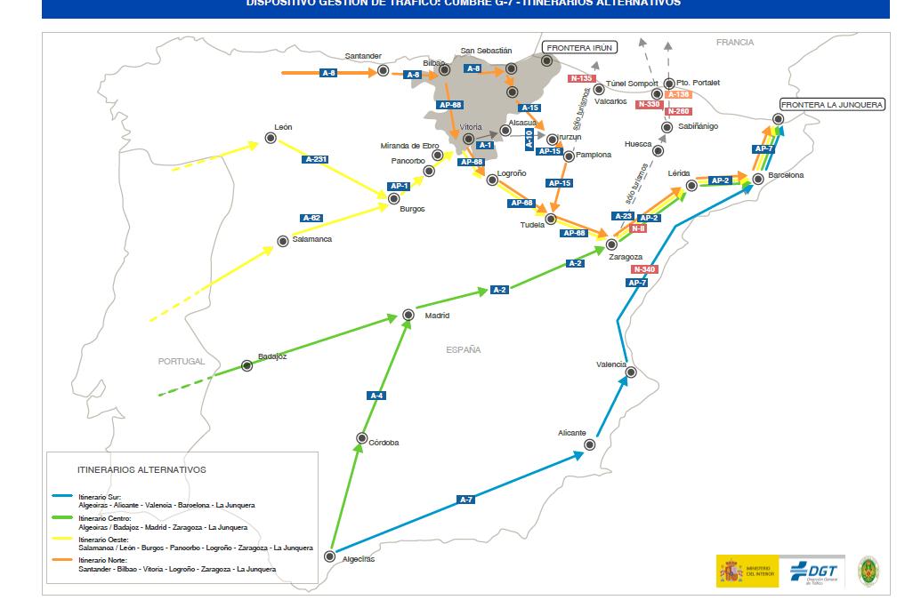 Rutas alternativas para evitar el colapso en Biarritz
