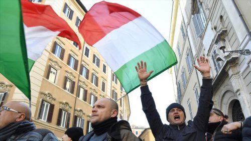 Italia en huelga