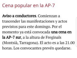 Más protestas en la AP-7