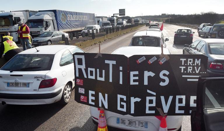 Los transportistas franceses bloquearán la frontera franco-belga este jueves