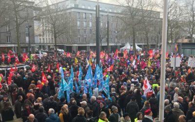 Manifestaciones en Francia ante la huelga general