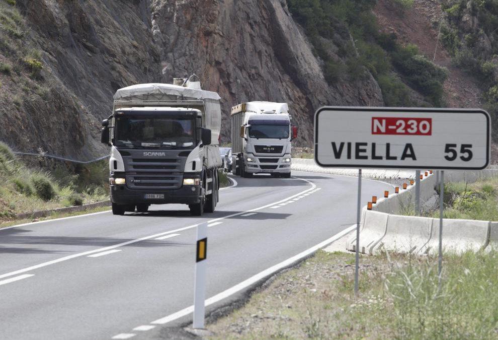 Modificaciones en las restricciones en la N-230 para vehículos pesados