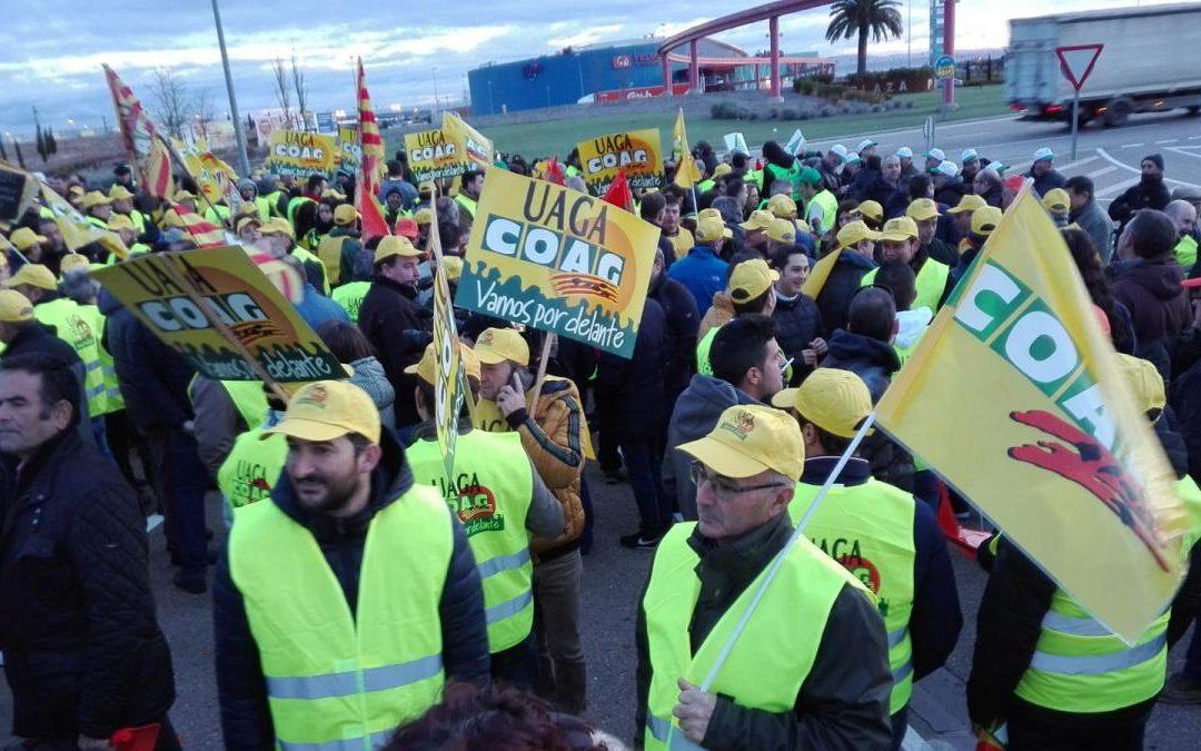 Los agricultores también realizarán 'tractoradas' en Salamanca, Zamora, Burgos y Palencia