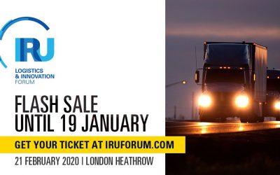 La IRU pone en marcha la venta flash de entradas para la segunda edición del Foro de Logística e Innovación