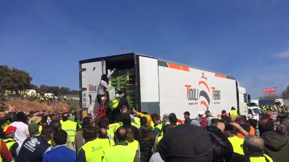 Asalto a un camión en Jaén