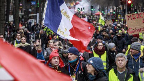 Protestas contra la reforma de las pensiones