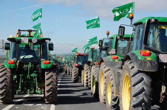 Numerosos cortes en las carreteras de Sevilla por las protestas de los agricultores