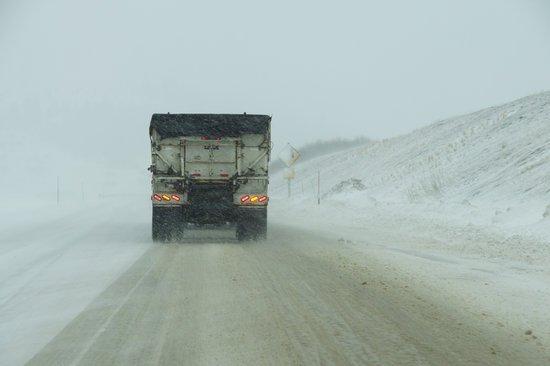 Alerta: embolsamientos de camiones por nieve