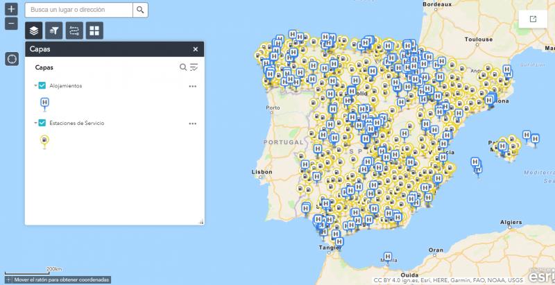 Mapa estaciones de servicio