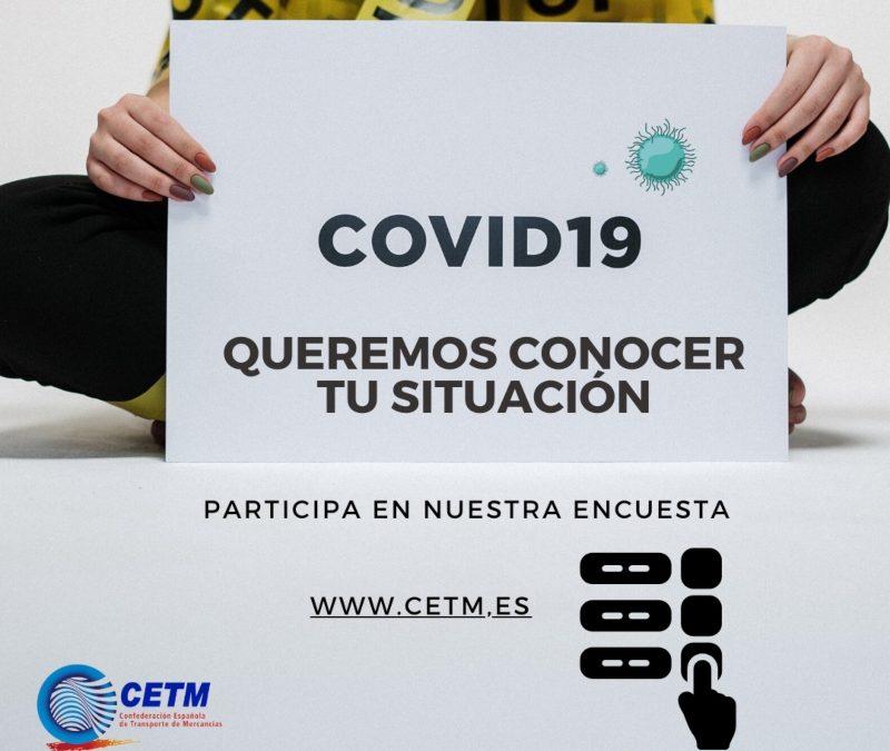 La CETM lanza una encuesta para conocer la situación de las empresas de transporte de mercancías durante la crisis del COVID-19