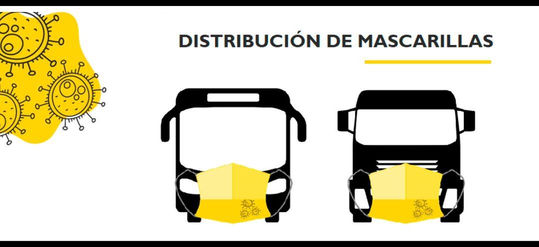 El Ministerio de Transportes, Movilidad y Agenda Urbana realizará un segundo reparto de mascarillas: cuatro por vehículo