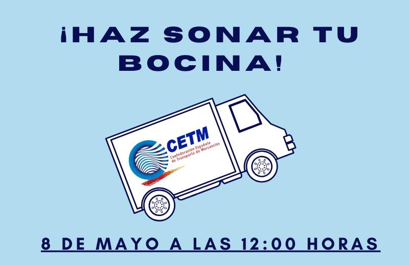 Convocatoria el 8 de mayo para hacer sonar las bocinas de los camiones en reconocimiento de los trabajadores del sector