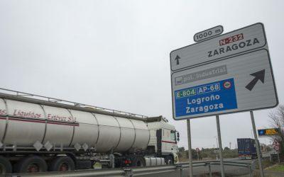 La DGT en La Rioja se niega a eliminar el desvío de camiones a la AP-68 a pesar de que se haya declarado nulo por tercera vez