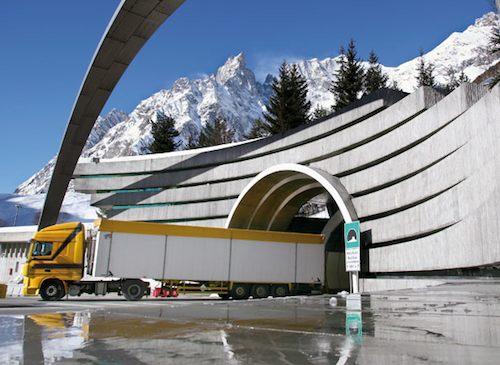 Cortes de circulación en el Túnel del Mont Blanc