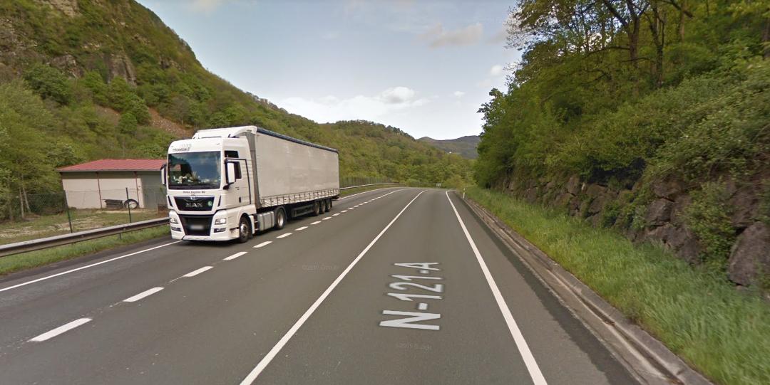 Afecciones al tráfico en la N-121-A en Navarra debido a las obras para convertirla en una vía 2+1