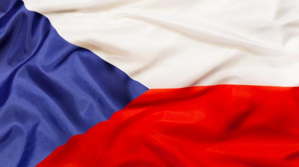 Bandera República checa