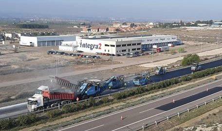 Afecciones al tráfico en la A-2 entre Zaragoza y Alfajarín