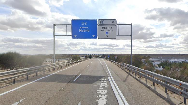 Afecciones al tráfico en la A-6 en Medina del Campo durante tres meses